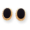 14k Madi K Bezel Onyx Earrings