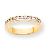 14k AA Diamond Channel Band