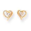 14k AA Diamond Heart Earrings