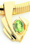 14k 9x7mm Oval Peridot slide
