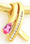 14k Pink Tourmaline A Diamond Slide